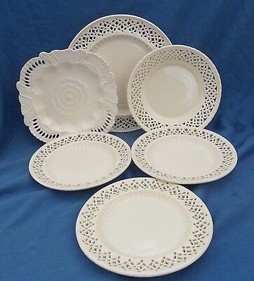 Selection Royal Creamware Plates with Pierced Decoration.
