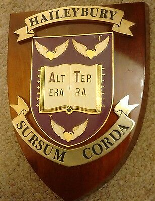 School College plaque Crest Shield Haileybury