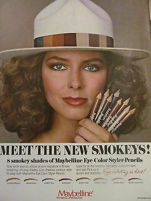 Maybelline, Eye Color Styler Pencils, Full Page Vintage Print Ad