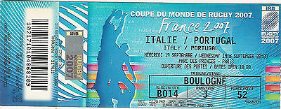 Italy v Portugal 19 Sep 2007 RUGBY WORLD CUP TICKET