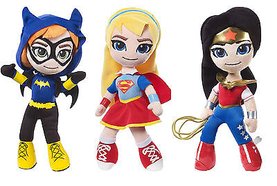 Mattel DC Super Hero Girls Plush  -  Batgirl Supergirl Wonder Woman NEW 2017