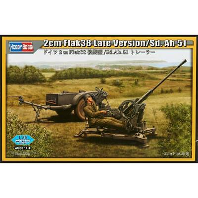 NEW Hobby Boss 1/35 2cm FLAK38 Late Version SD.AH 51 HY80148