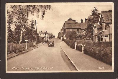Crowthorne. High Street. Motor Cars. Crowthorne 1947.