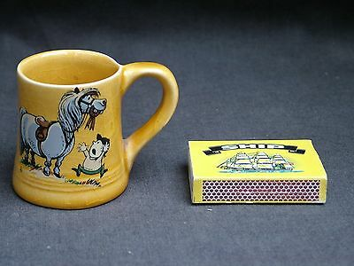 Vintage Thelwell Pony Miniature Ceramic Tankard. Collectable.
