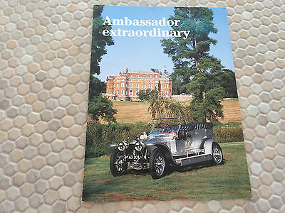 Rolls Royce Silver Ghost 1907 Quest Magazine Promotional Brochure 1989