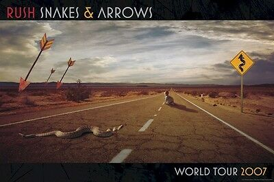 RUSH ~ HIGHWAY 24x36 MUSIC POSTER Snakes & Arrows World Tour NEW/ROLLED!