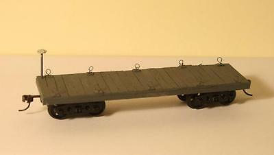 7mm ft Narrow Gauge O-16.5 On30 scratchbuilt bogie flat wagon Kadee couplings