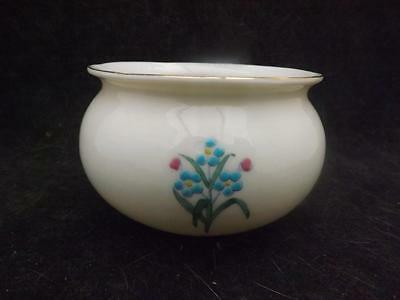 "Large 4"" Antique China Ware WH Goss Bowl Dish Flower Design CW335"