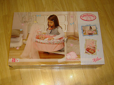 Baby Annabell Musical Rocking Dolls Cradle Cot Crib Girls Toy Boxed Zapf Create