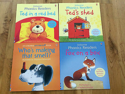 Collection of 4 Usborne Phonics Readers books