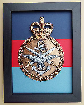 Large Scale Framed TRI SERVICES INSIGNIA Badge Crest Plaque