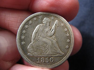 1856-O Seated Liberty Quarter  **v.f.+** Mintage: 968,000