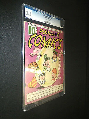 Popular Comics #4 • Dell Publishing 1936 • CGC 2.5 • Over 80 Years old
