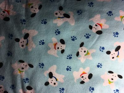 Cute Pups On Soft Blue Flannel Stethoscope Cover - New Handmade - FREE S&H