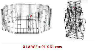 8 Panel Wire Metal Pet Dog Animal Cat Exercise Playpen Fence Enclosure Cage Den!