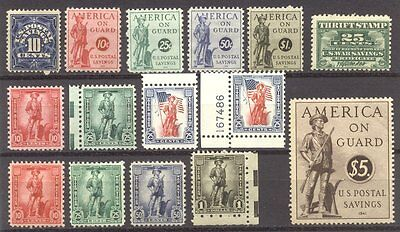 U.S. #PS6//WS10 Mint NH - Group of Savings Stamps ($127)