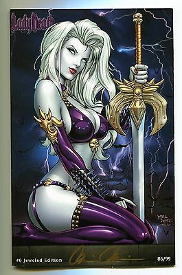 Lady Death #0 Jeweled Edition Variant Mike Debalfo Cover Signed by Pulido /99