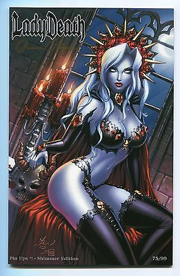 Lady Death Pin Ups #1 Shimmer Jeweled Variant Dawn McTeigue Cover Signed Pulido
