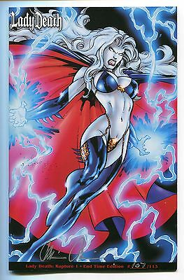 Lady Death Rapture #1 End Time Edition Variant Ivan Reis Cover Signed Pulido HTF