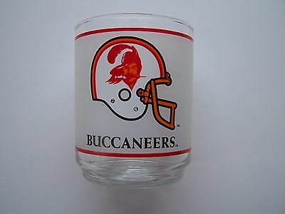 Tampa Bay Buccaneers Vintage Helmet Logo Mobil Oil Rock Glass