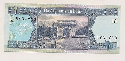 Da Afghanistan Bank Two Afghanis Banknote--Pristine Condition !