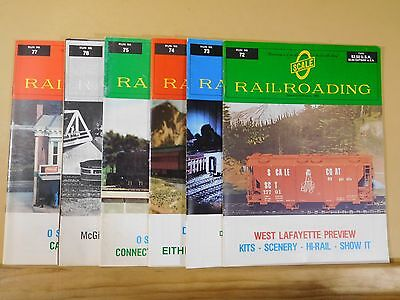O Scale Railroading 1982 Issues #72- #77  6 issues Complete year
