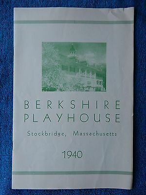 Ah, Wilderness - Berkshire Playhouse Theatre Playbill - July 8th, 1940