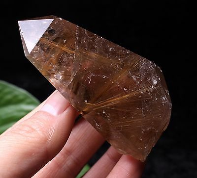 76g Natural Clear Hair Rutilated Quartz Crystal Point Specimen Healing