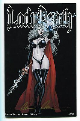 Lady Death Dragon Wars #1 Power Edition Variant Richard Ortiz Cover Signed /77