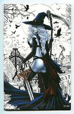 Lady Death Rapture #1 WHITE Variant GARRIE GASTONY Cover Signed Pulido /50 HTF