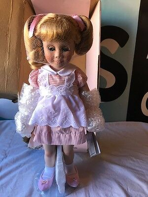 "Chatty Cathy 18"" Porcelain Danbury Mint Doll Pig Tails Very Cute Talking"