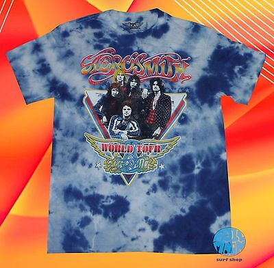82988ef61df New Aerosmith World Tour Train Tie Dye Retro Men s Vintage Classic T-Shirt