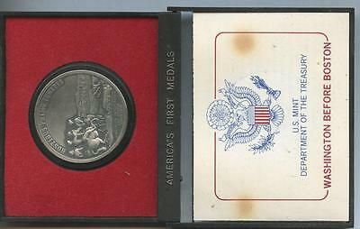 """vintage Americas's First Medals """"Washington Before Boston"""" Pewter Medal US token"""