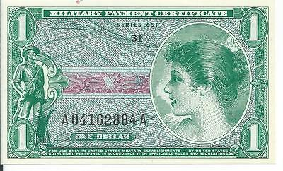 Very Rare1969 Series 651 $1 Japan South Korea Only CHCU Gem Currency #884A MPC