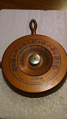 Cooper Co. Vintage Thermometer Frying Pan shaped Metal USA
