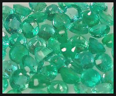 Australian Seller! Valuable Set 50 Natural Untreated Green Zambian Emerald Round