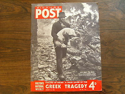 PICTURE POST - 20th JANUARY 1945 - Vol. 26  Number 3 - GREEK TRAGEDY