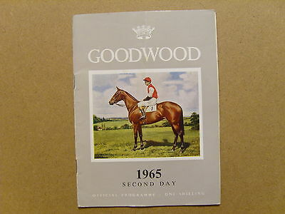 1965 GOODWOOD OFFICIAL RACE CARD or PROGRAMME - 28th JULY 1965 - SUSSEX STAKES
