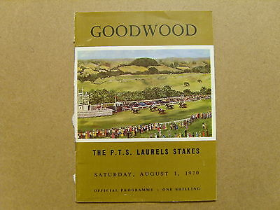 1970 GOODWOOD OFFICIAL RACE CARD - 1st AUGUST 1970 - PTS LAUREL STAKES, HOTFOOT