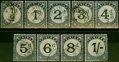 Trinidad 1885 P.Due set of 9 SGD1-D9 Fine Used
