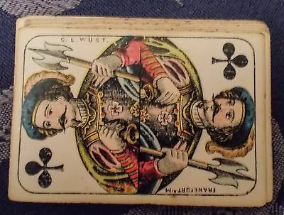 ANTIQUE PLAYING CARDS -  C. L. WUST  FRANKFURT  a/M  c.1880s
