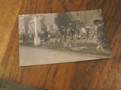 1926 Real Photo Postcard Of North  Cotswold Hunt At Broadway Worcestershire