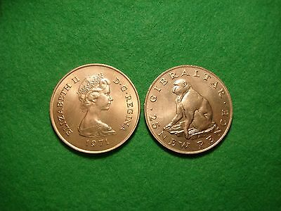Gibraltar 25 Pence Crown 1971 Barbary Ape BU FREEPOST