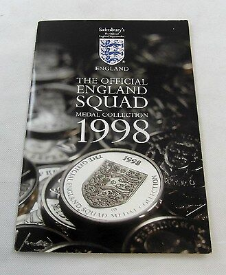 Sainsbury Official England Squad Medal Collection 1998+ Treasures World Cup Book