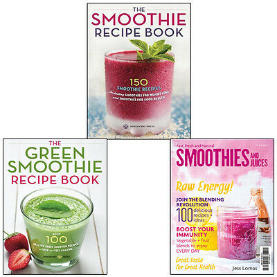 Natural Smoothies and Juices Collection 3 Books Set (Green Smoothie Recipe Book)