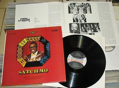 Satchmo - 4 LP BOX (VG+) A Musical Autobiography Of Louis Armstrong / Coral GER