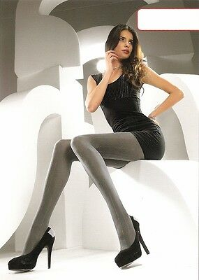 Levante Glitter Lurex Stripe Pattern Tights Black M/L
