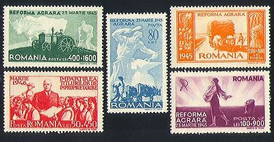 Romania 1946 Farming/Tractor/Cattle/Ploughing/Crops/Transport 5v set (n32534)
