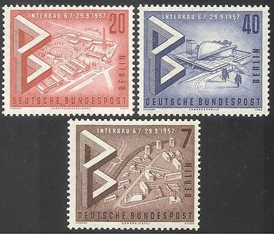 Germany (B) 1957 Building Exhibition/Buildings/Architecture/Fair 3v set (n41178)
