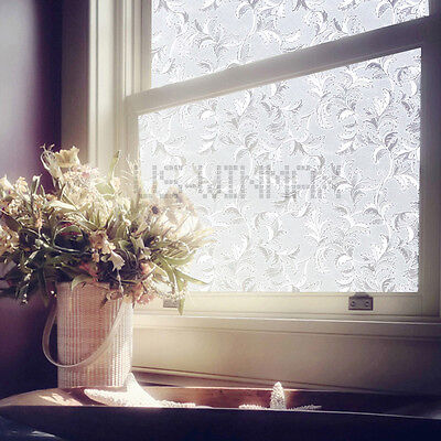 90cm*2m 3D Static Cling Decorative stained Glass Vinyl Window Film UV isolation